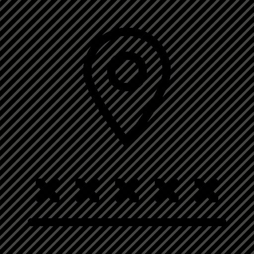address, logistic, number, postcode, zip icon