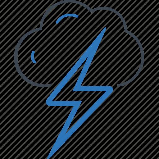cloud, danger, forecast, thunder icon