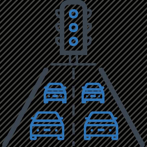 highway, jam, road, traffic icon