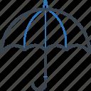 rainy, safe, safety, umbrella icon