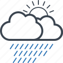 cloud, forecast, rain, weather icon