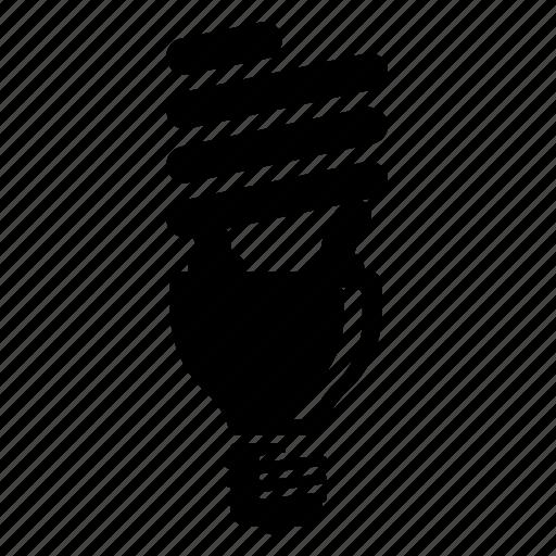 icon lighting. bulb green lightbulb lighting icon