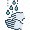 regular, hand wash, continual, repeate, necessary, frequent, faucet icon