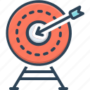 archery, target, accurately, achievement, range, exactly, shooting icon