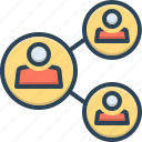 connection, administrator, corporate, societal, social, community, group of people icon