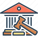 authority, hammer, governmental, house, court, magistrate, judge icon