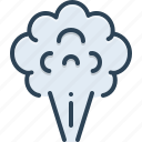 smoke, fume, smolder, smokestack, atmosphere, pollution, harmful icon