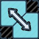 combine, integrate, interlocking, modulate, harmonize, attach, amalgamate icon