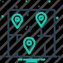 area, range, navigation, marker, neighborhood, locality, territory icon