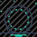 cycle, reset, loop, reload, replay, update, carousel