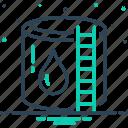 reservoir, cistern, storage, container, supply, refinery, water reservoir icon