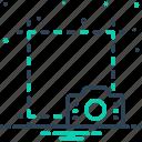 screenshot, camera, capture, crop, application, image, photograph icon