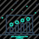 rounds, encircle, graph, economic, financial icon
