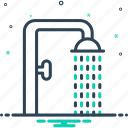 shower, sprinkling, downpour, bath, bathing, droplet, shower bath icon