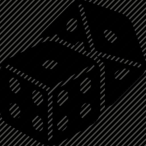 cube, dice, fun, game icon