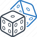 cube, dice, fun, game icon