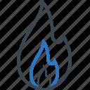 blaze, burn, fire, hot icon