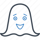 cartoon, ghost, horror, spooky icon