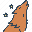 wolf, howl, predator, wilderness, dog, forest, animal
