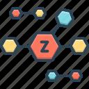 zinc, oxide, chemical, molecular, atomic, compound, formula