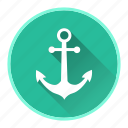 anchor, boat, marine, ocean icon