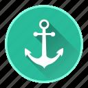 anchor, boat, marine, ocean icon