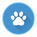 animals, dog, paw, pet icon