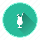 bottle, drink, glass, summer icon