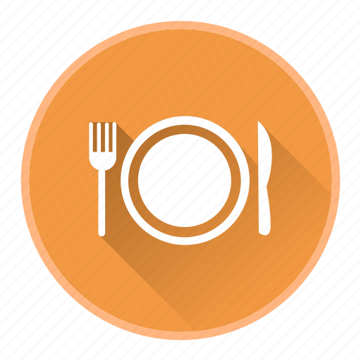 breakfast, eat, meal, plate, restaurant icon