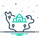 state, kingdom, dominion, realm, land, region, address, country, province