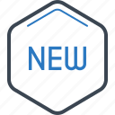 label, new, tag icon