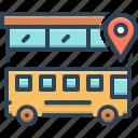 bus, location, transportation, traveler