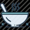 bowl, chowder, dish, food, hot, meal, spoon