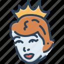 cinderella, fairytale, girl, pretty, princess icon