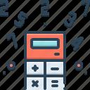 coefficient, multiplier, quotient, technology icon