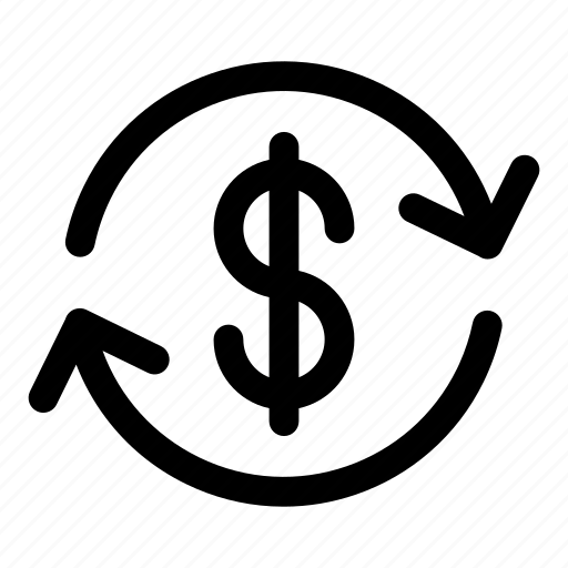 business, business cycle, currency exchange, dollar, dollar sign, installment, money back icon