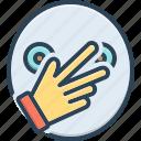 connivance, finger, hand