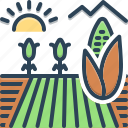 agriculture, cornfield, crop, farming, husbandry icon