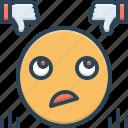 criticize, emoji, judge, judgement icon