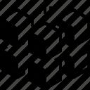 cubed, geometric, puzzle, shape, square icon