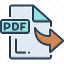 derived, file, pdf, received, secured icon