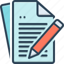 dissertation, document, essay, tractate, treatise icon