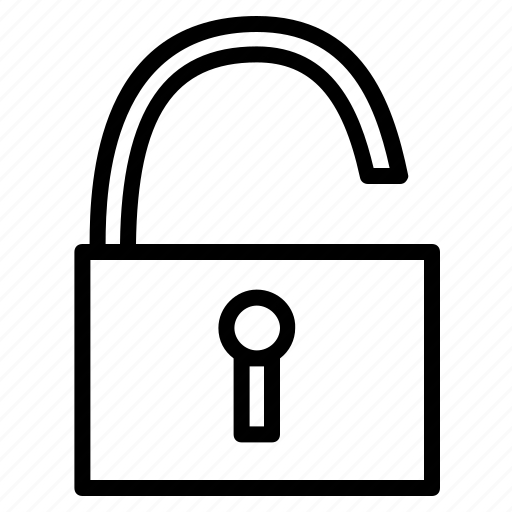 lock, protection, secure, security, unlock icon