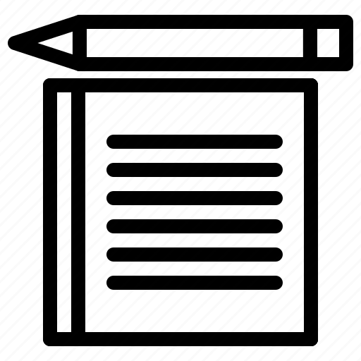 file, folder, pen, text icon
