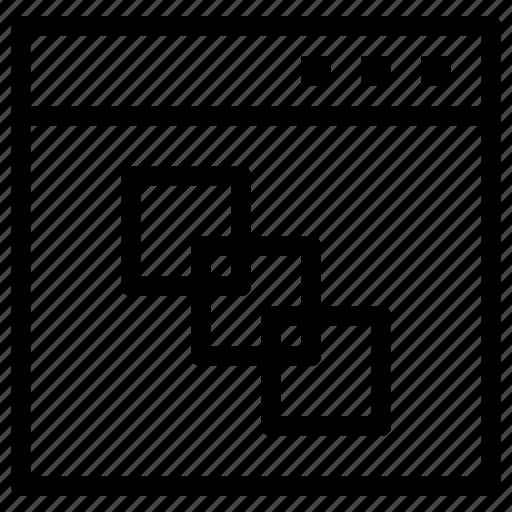 box, browser, web, window icon