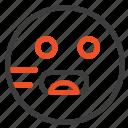emojis, emoticon, hungry, school icon