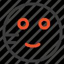 embarrassed, emojis, school, study icon