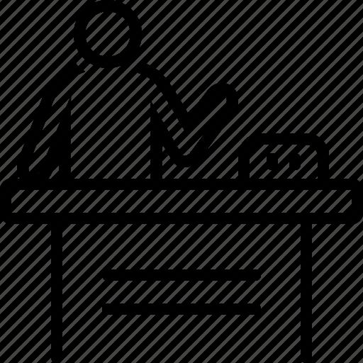 demo, demonstration, presentation, product icon