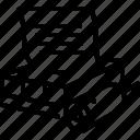 imprint, linotype, machine, print, print shop icon