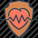 health, health insurance, heart, insurance, life, protection icon